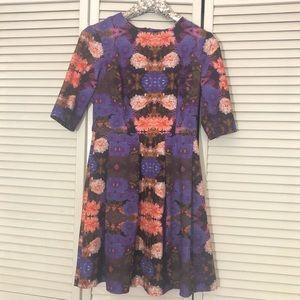 Purple floral ASOS scuba skater dress
